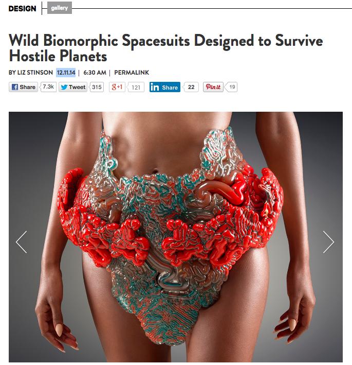 Wild Biomorphic Spacesuits Designed To Survive Hostile